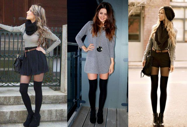 How to Wear Thigh High Socks? 12 Ways | Fashion Rules | Skirt .