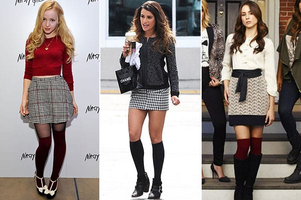 Knee High Socks Outfits-23 Cute Ways to wear Knee High Soc