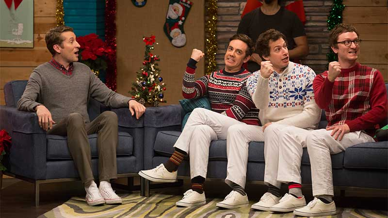 Comedy Bang! Bang!: The Lonely Island Wear Holiday Sweaters .