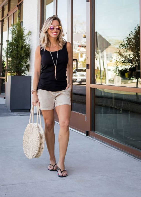 How to Wear Khaki Shorts For Women: Perfect Outfits To Try Now .