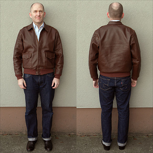 Type A2 Leather Flight Jacket | Black Leather Jackets For Men 20