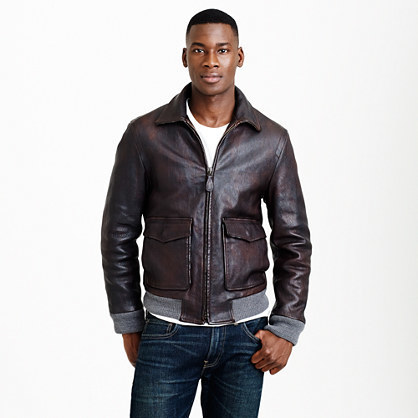 J.Crew Leather Flight Jacket, $1,095 | J.Crew | Lookast