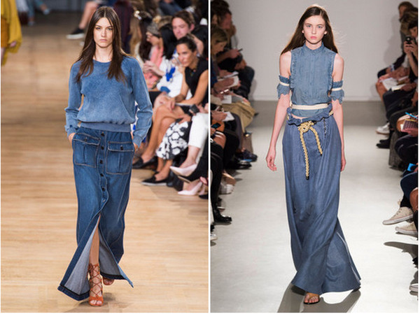 The Long Denim Skirt - The Spring Denim Trends You Have to Try and .