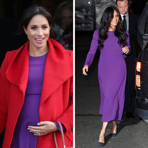Meghan Markle knows how to wear purple - steal her style - Photo