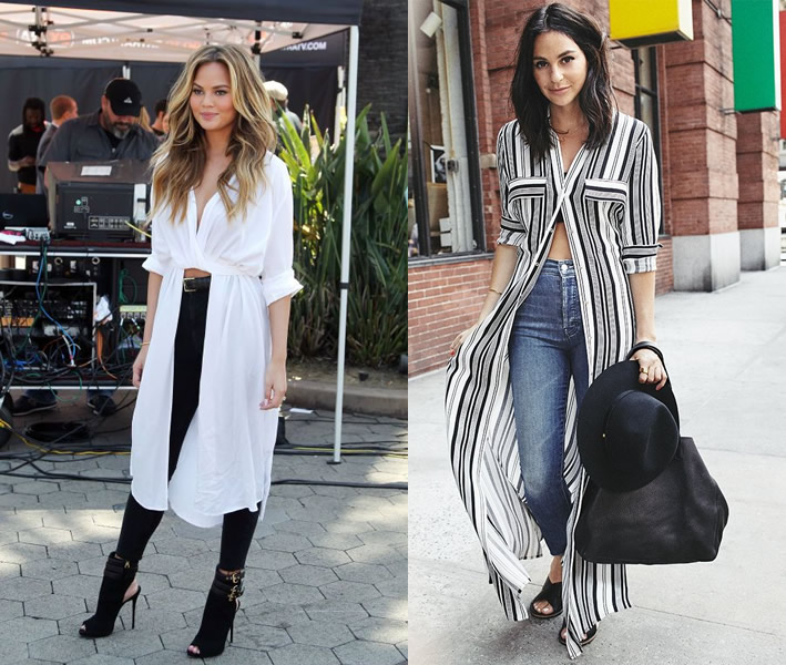 12 Amazing Ways on How to Wear Long Shirts for Women - FMag.c
