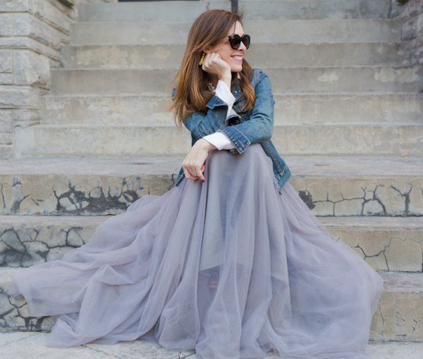 How to Wear Long Tulle Skirt: 15 Refreshing & Breezy Outfit Ideas .