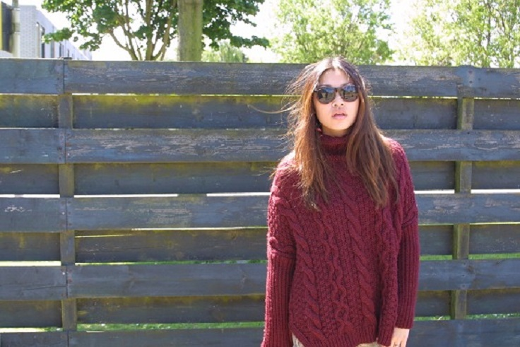 What To Wear With Burgundy Sweater | Her Sweat