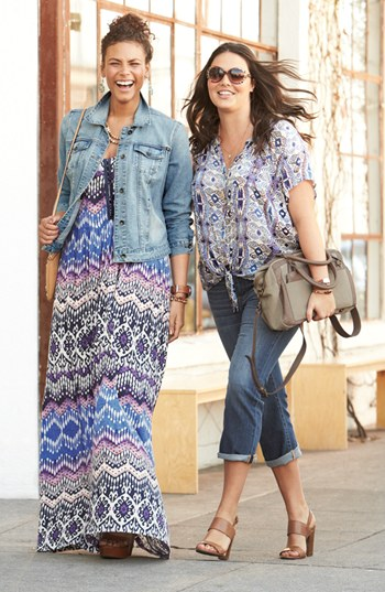 The Maxi Dress With Jean Jacket ~ What to Wear Over