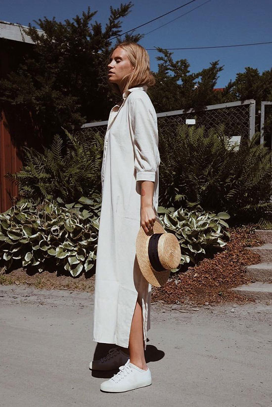 Our Latest Crush: The Maxi Shirt Dress | Be Daze Li