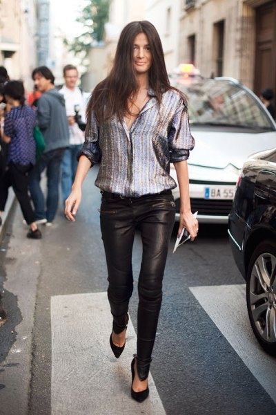 How to Wear Metallic Shirt: 15 Shiny & Eye Catching Outfit Ideas .