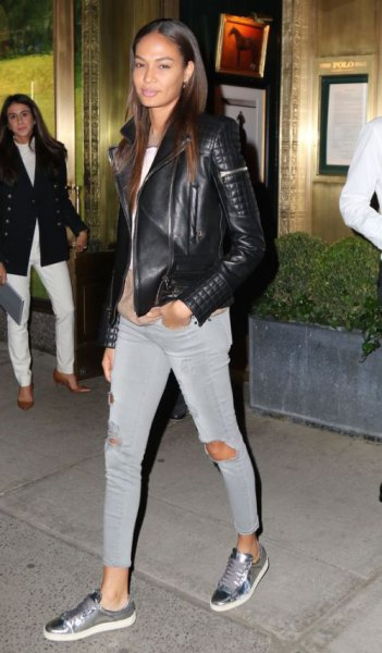 How to Wear Metallic Sneakers: Best 15 Shiny Outfit Ideas for .