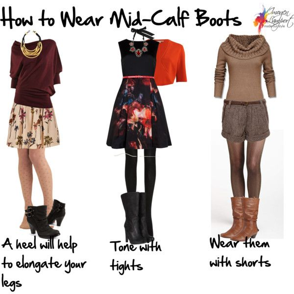 How to Wear Mid Calf Boots | Mid calf boots outfit, Calf boots .