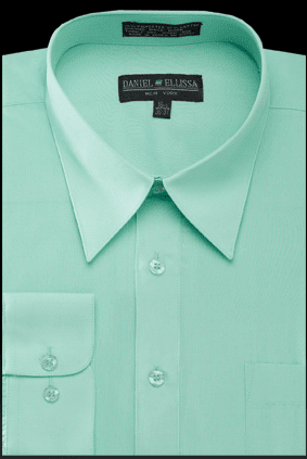 Dress Shirt Mint Green Mens Regular Fit Daniel Ellissa DS30