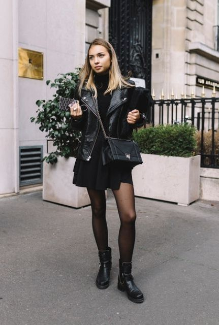 10 Powerful Looks With Biker Boots 2020 - LadyFashioniser.c