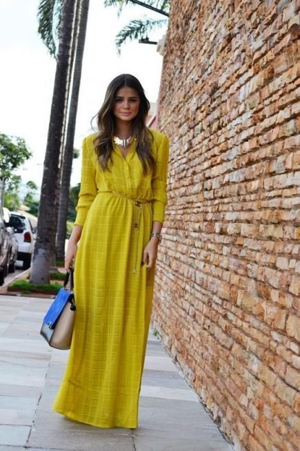 Mustard Maxi Dress Outfits (32 ideas & outfits) | Lookast
