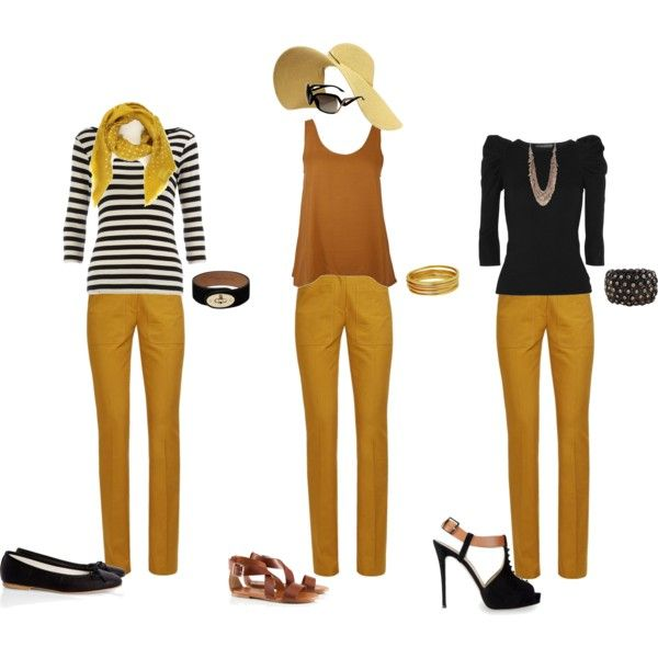 bren33 | Colored jeans outfits, Yellow jeans outfit, Yellow pants .