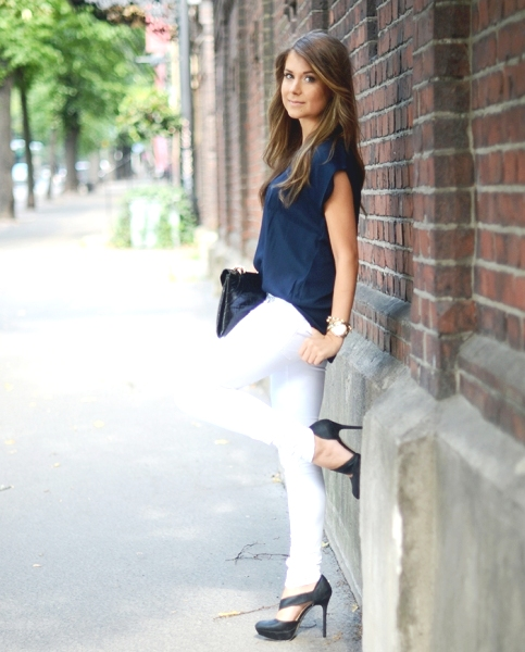 Healthy Shade: How to Wear a Navy Blue Blouse : Best Outf