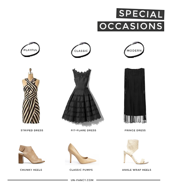 my capsule wardrobe for special occasions + how to build one yourse