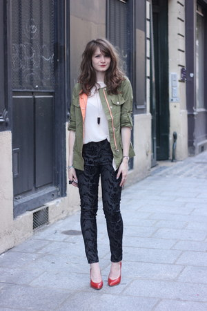 How to Wear Olive Green Sheinside Jacket - Search for Olive Green .