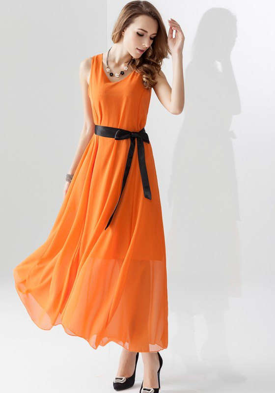 How to Wear Orange Maxi Dress: 15 Cheerful & Attractive Outfits .