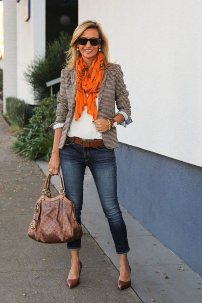 How to Wear Orange Scarf: Best 13 Cheerful & Lovely Outfit Ideas .