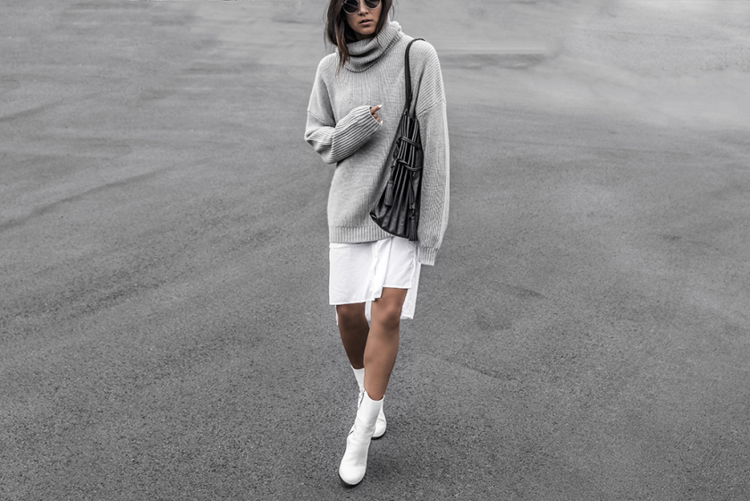 how to wear oversized sweater style | day in my drea