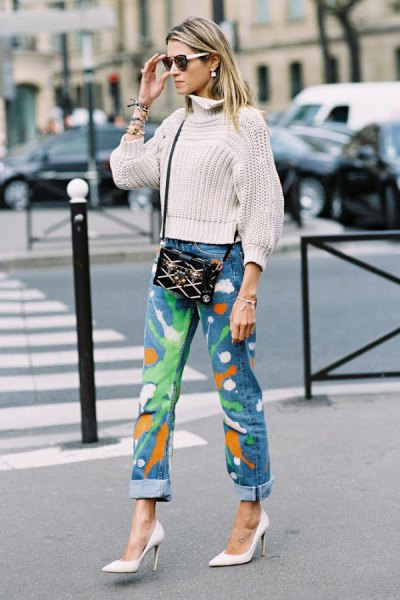 How to Wear Paint Splatter Jeans: Best 10 Boyish Outfit Ideas for .