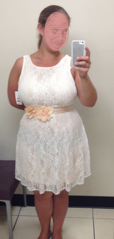 Help! What kind of shoes should I wear with this peach lace dres