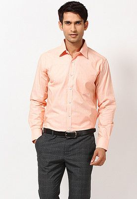 Peach Formal Shirts | Peach shirt outfit, Peach shirt, Formal .