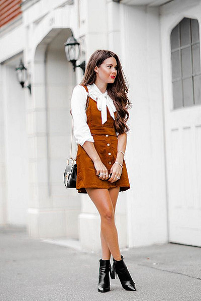 How To Wear the Pinafore Trend Without Looking Like A Kid - Living