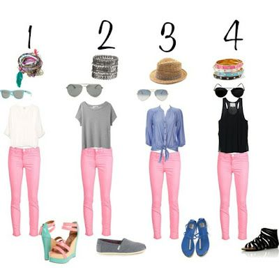How to wear pink jeans. | Light pink pants, Pink pants outfit .