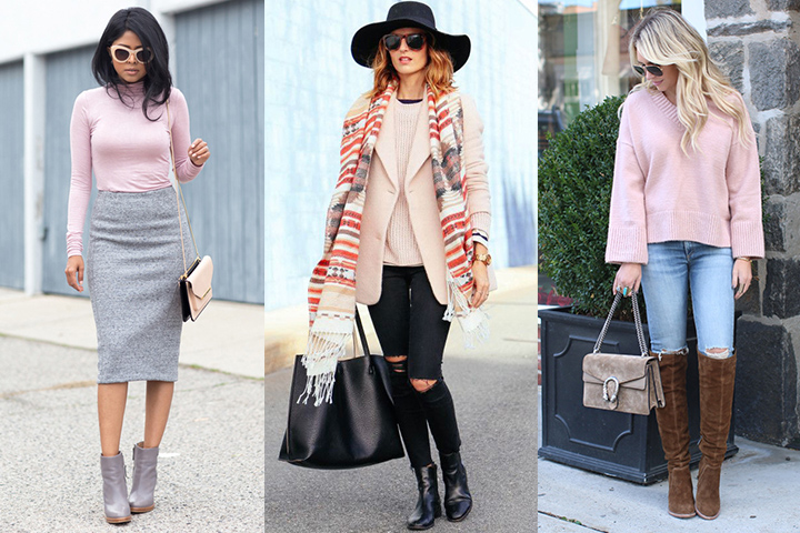 Pastel pink pullover sweaters | HOWTOWEAR Fashi