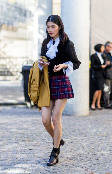 How to Wear Plaid Mini Skirt: Top 15 Outfit Ideas that Make You .