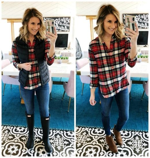Winter Style // How to Style a Plaid Button Up // What to Wear .