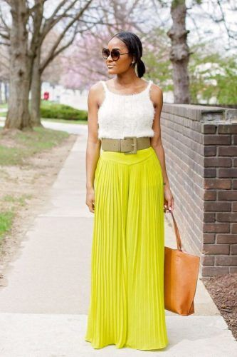 What to wear with palazzo pants | Fashion, Lace vest top, Palazzo .