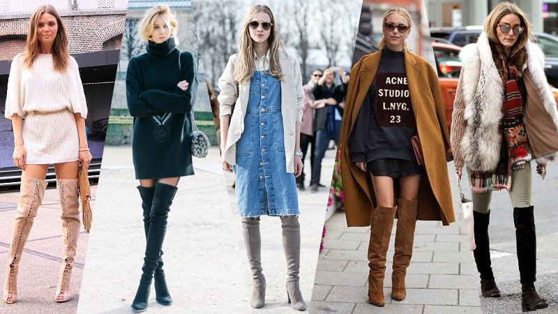 How to Wear Over The Knee Boots -The Trend Spott