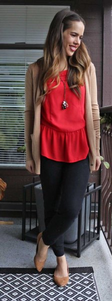 How to Wear Red Blouse: 15 Chic Outfit Ideas for Women - FMag.c
