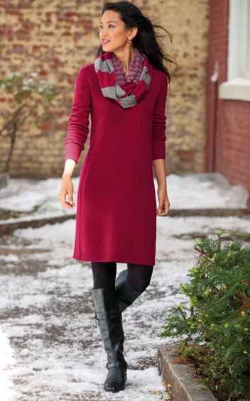 J Jill Italian wool & cashmere dress | Red winter dresses, Clothes .
