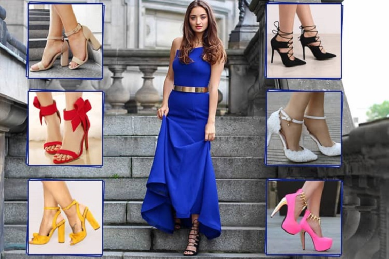 What color shoes to wear with royal blue dres