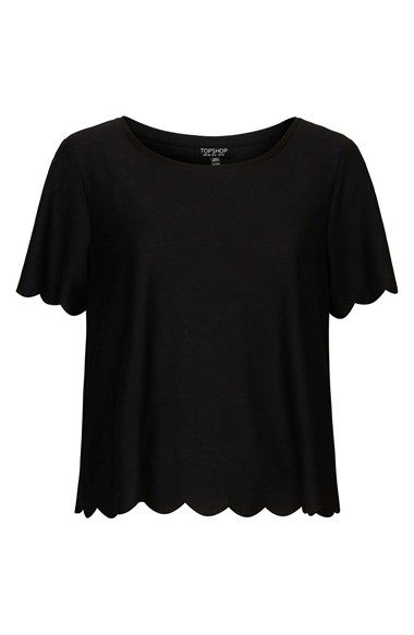 Scallop Frill Tee | Clothes, Shirts, To