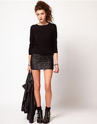 How to Wear Sequin Mini Skirt: Best 15 Attractive & Elegant Outfit .