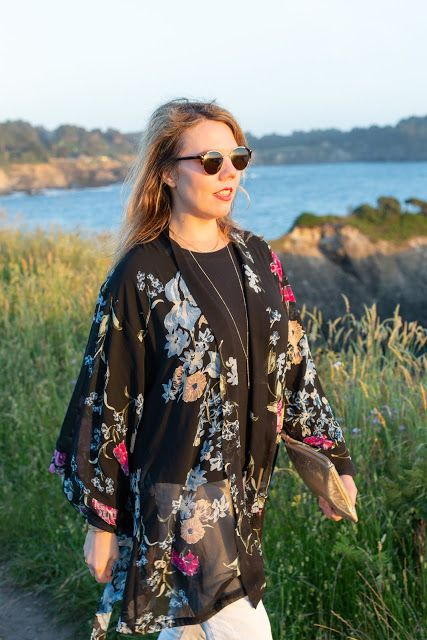 What to wear with a sheer kimono - Cheryl Shops | How to wear .