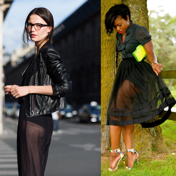 How to Wear Sheer Skirts for the Bold and the Faint at heart!