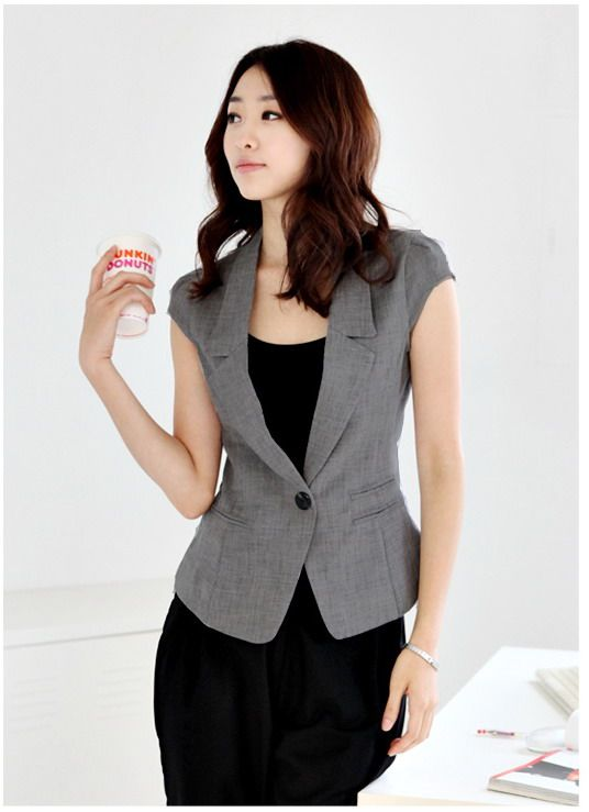 Qoo10 - Women Short Sleeve Blazer / Jacket * Summer Wear * Office .
