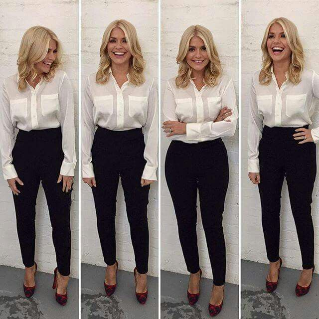 Holly Willoughby wearing the Winser London 'The Tilda' - Silk .