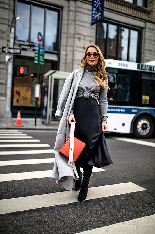 How to Layer a Slip Dress — christie ferrari | Slip dress outfit .
