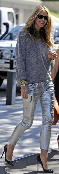 20+ Best Silver pants images | silver pants, fashion, my sty