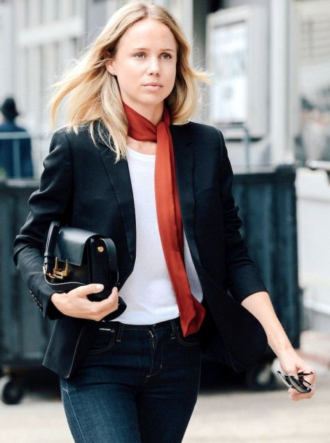 21 Skinny Scarf Ideas To Rock This Fall - Styleohol