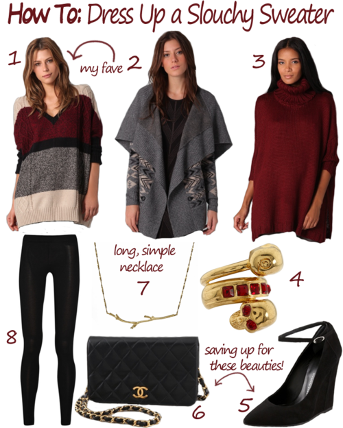 HOW TO DRESS UP A SLOUCHY SWEATER | The Style Scri