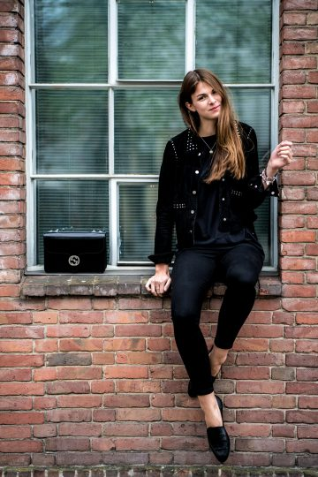 How to wear a studded leather jacket || Fashionblog Berl
